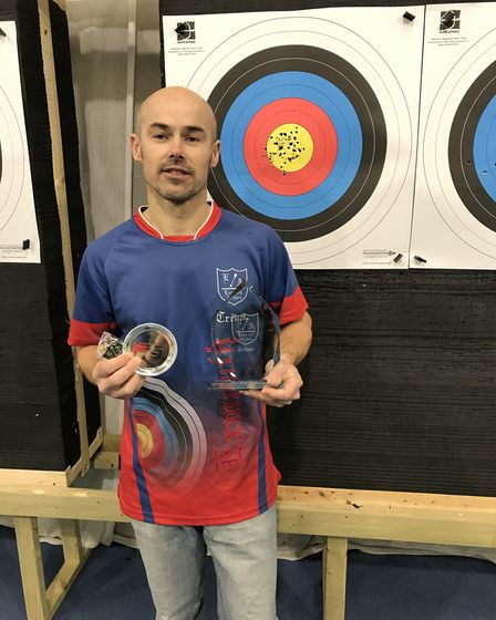 Exmouth Archer Trevor Dance at the January Challenge. Picture EXMOUTH ARCHERS