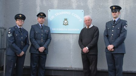 Terry Knights (second from the right) at the final Exmouth Air Cadets parade at the group's old head