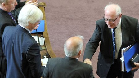 Election of Chairman and Leader for Cambridgeshire County Council. Outgoing Chairman John Powley and