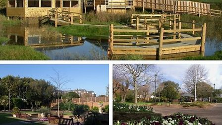 Seaton Wetlands, Manor Gardens and Connaught Gardens have all received Green Flag status. Picture: E