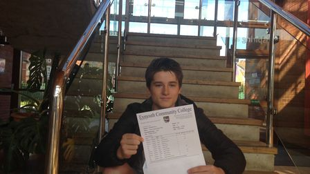 Connor Philp with his results. Picture: Daniel Wilkins