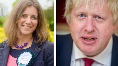 Parliamentary candidate Claire Wright calls for Prime Minister Boris Johnson to stand down. Pictures