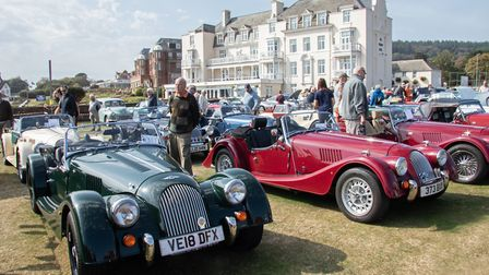 Great display of classic cars and motorbikes, stalls and entertainment from Sidmouth Ukelele band on