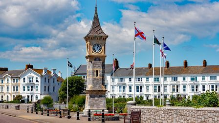 The clock tower, Exmouth seafront, Exmouth. Picture: John Thorogood