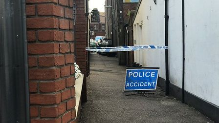 Pictures of the scene that has been cordoned off by police, investigation a serious sexual assault.