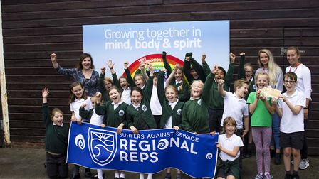 St Peter's Primary School is a Surfers Against Sewage plastic free school. Picture: Jemima Moore