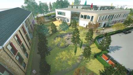 the residential lawn area. Picture: Deaf Academy