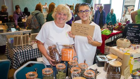 Exmouth's first vegan market at The Ocean. Ref exe 45 19TI 3327. Picture: Terry Ife