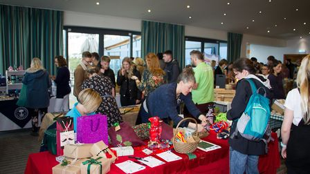 Exmouth's first vegan market at The Ocean. Ref exe 45 19TI 3320. Picture: Terry Ife