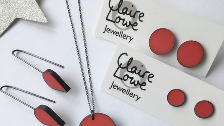 Claire Lowe created a limited-edition run of red resin jewellery to raise money for homeless charity