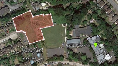 The proposed site for a new learning centre at Marpool Primary School. Picture: Google