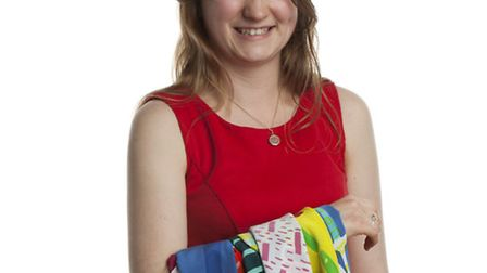 Katie Whitton, who is graduating with a BA (Hons) Textiles degree from Norwich University of the Art