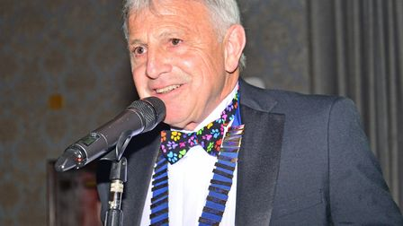 Chairman of Exmouth Chamber of Commerce Ian MacQueen leads the evening's proceedings. Picture: John