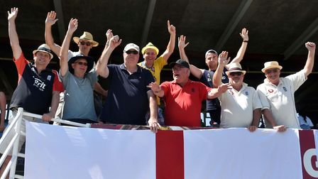 Exmouth Town 'Muff Town Casuals' in Port Elizabeth taking in the South Africa versus England Test Ma