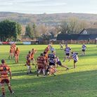 Exmouth's James Bath clears the Cockles' lines during the win at Okehampton. Picture; ERFC