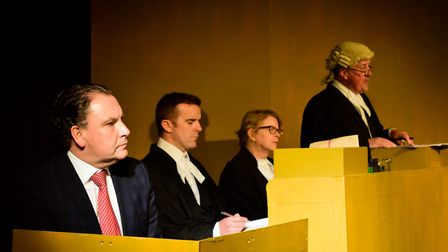 A scene from Exmouth Players production of Beyond Reasonable Doubt. Picture: Exmouth Players