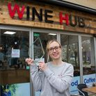 Sonia Varlakhov from The Wine Hub with her Exmouth Business Award Ref exe 08 20TI 8879 Picture: Terr