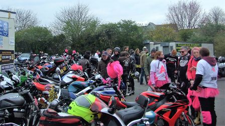 Action on Addiction riders at Exmouth Football Club. Picture: Caroline Claydon