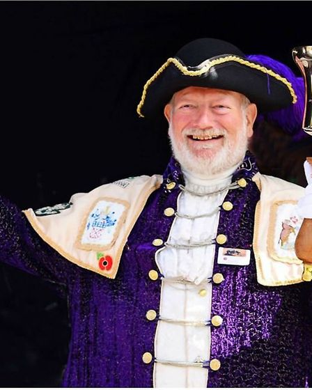 Exmouth town crier Roger Bourgein. Picture: Roger Bourgein