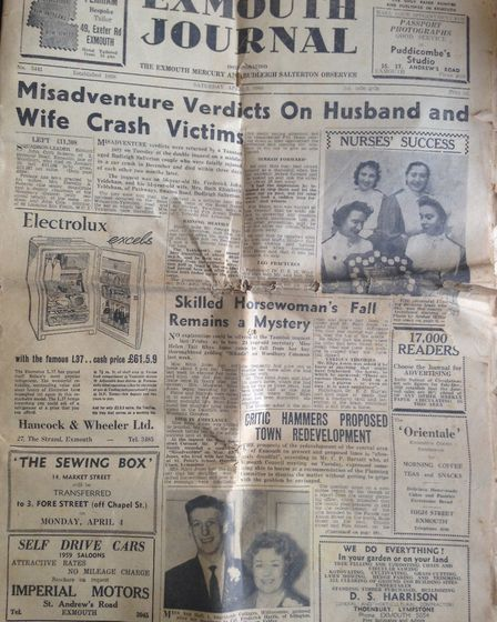 The Exmouth Journal, April 2, 1960. Picture: Daniel Wilkins