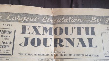 The Exmouth Journal from 1960. Picture: Daniel Wilkins