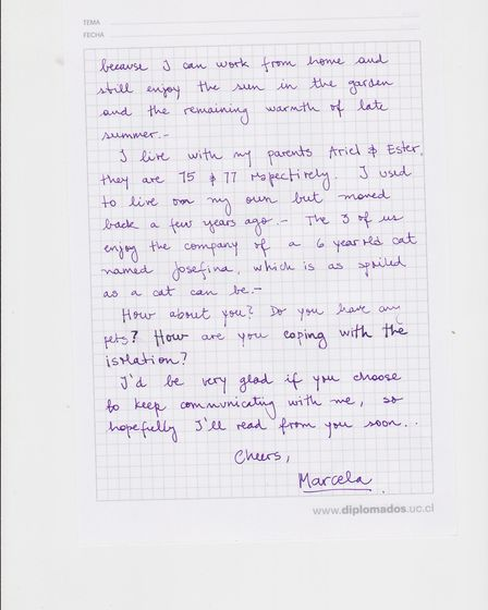 A letter written to a Bluebird Care customer. Picture: Bluebird Care Exmouth