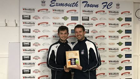 Jamie Vaughan Ryall, the Exmouth Town Reserve team Man of the Match from the midweek 3-1 win over To