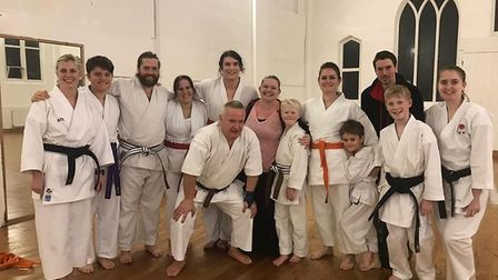 Lympstone Karate Club members in Exeter at the kyu grading. Picture: LKC