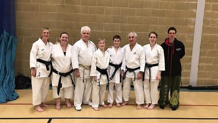 The Lympstone Karate Club members on their visit to Abingdon, Oxfordshire. Picture: LKC