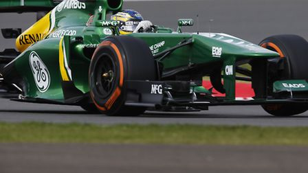Caterham's Charles Pic takes on Silverstone at the weekend.