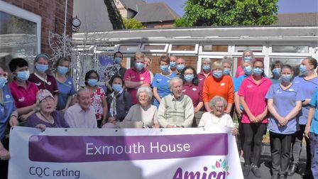 A party was held at Exmouth House Care Home to mark an outstanding CQC rating. Picture: Tracy Denny