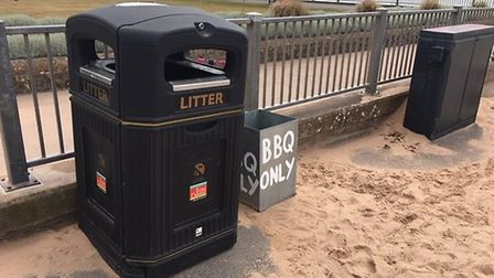 Barbecue bins in Exmouth. Picture: East Devon District Council