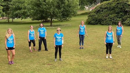 Debbie Newson and her team of Budleigh runners. Picture: Debbie Newson