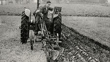 Tom Broom at a ploughing match in 1951. Picture: Courtesy of Roger Stokes