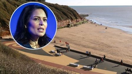 Priti Patel, the Home Secretary, has welcomed investment in policing on Exmouth seafront. Picture: D