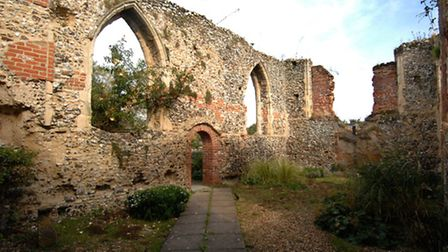 The ruins of St Michael's Church in Bowthorpe.