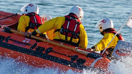 Exmouth Inshore Lifeboat launches to the rescue. Picture: John Thorogood/Exmouth RNLI