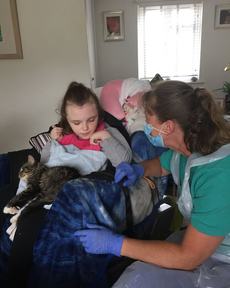 The care team at Little Bridge House are now visiting families in their own homes to support them du