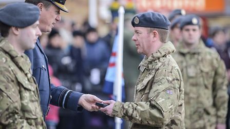 Scenes from RAF Marham IX Squadron homecoming Parade in Downham Market. Picture: Matthew Usher.