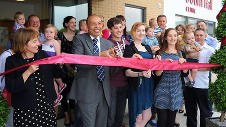 Hamed Al-Taher opens the new Bourn Hall IVF clinic in Wymondham. Photograph Simon Parker