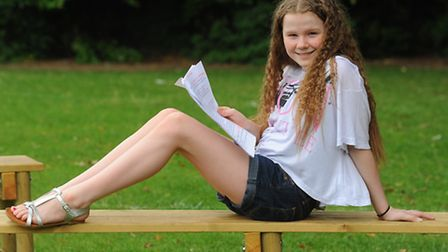 Katie McGonagle, 11, of Drayton Junior School, who has written and composed all the music for her mu