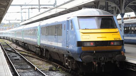 Services between Ipswich and Lowestoft are being disrupted. A Greater Anglia train.Photo: Bill Smith