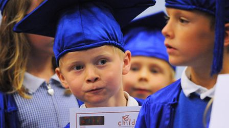The Norfolk Children's University graduation ceremony held at the UEA. Some of the children with the