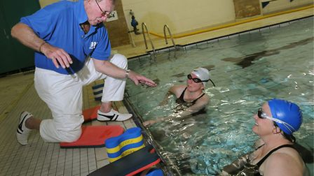 Veteran lifegaurd Peter Dukes during one of his swimming training sessions. Photo: Simon Finlay.