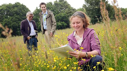 Neatherd Moor is being surveyed by staff from the NWT - From left, Helen Baczkowska starts the surve