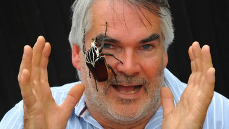Old Catton insect wrangler Martin French who has had some of his vast collection of exotic insects u