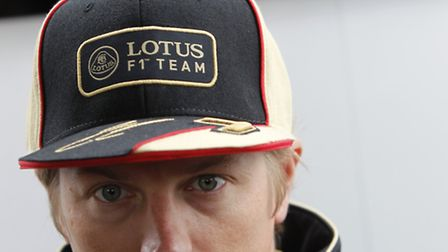 Lotus' Kimi Raikkonen played it cool at Silverstone when asked if he was being lined up to replace t