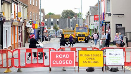 Gorleston High Street closed to all traffic after a hole appeared in the road on Friday afternoon. The scene on Monday...
