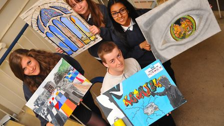Norfolk Is...... Thorpe St Andrew year 10 pupils work from their project My Places. Holding their fi
