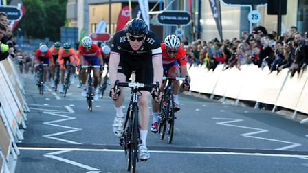 Ed Clancy takes the individual win in Woking, in the previous round of the Tour Series before it arr
